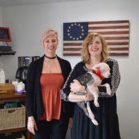 Laura, Sharon & Puppy